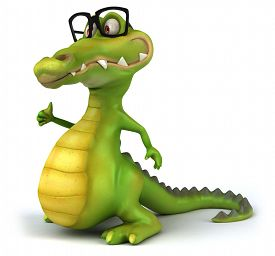pic of crocodile  - Fun crocodile - JPG