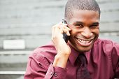 Black Businessman On The Phone