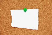 Corkboard Background With Rip Paper