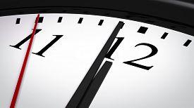 image of analog clock  - Close - JPG