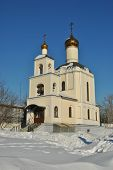 Russian church in winter