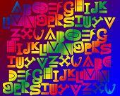 Color Alphabet Background