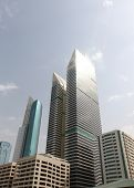 Dubai, Uae - 2/11/2011: Tall Futuristic Skyscrapers In Dubai