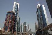 Dubai, Uae - 2/11/2011: Business Bay Boulevard With Skyscraper B