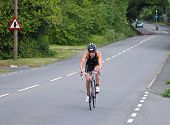 Woman Triathlete Cycling