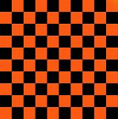 Black and orange checkered flag