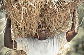 African Woman Working Hard