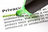 Privacy Definition