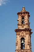 image of taxco  - Bell tower in mexican town of taxco - JPG