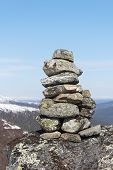 Cairn in the mountains