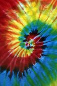 stock photo of grateful dead  - red orange yellow green blue purple spiral tie dye - JPG
