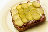 Pickled Cucumber Sandwich