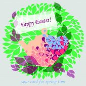 cute card for happy Easter and springtime