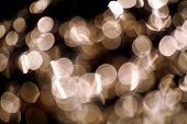 Bokeh Effect Background. Bokeh Of Light Reflecting Surface. Reflection Of Light With Black Backgroun poster