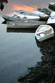 Dories At Low Tide Vertical