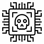 Malicious Technologies Icon. Outline Malicious Technologies Vector Icon For Web Design Isolated On W poster
