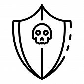 Cyber Attack Protection Icon. Outline Cyber Attack Protection Vector Icon For Web Design Isolated On poster
