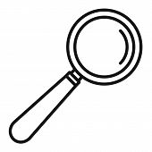 Lab Magnify Glass Icon. Outline Lab Magnify Glass Icon For Web Design Isolated On White Background poster