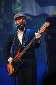 Orlando, Florida - January 15: Tim Nordwind Vocals And Bass Guitar Player Of Rock Band Ok Go Perform