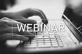 Webinar Online, Internet Education, E-learning poster
