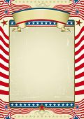 Traditional american background. Grunge Image with red stripes and stars shapes. Great background to