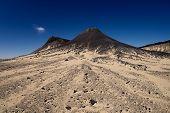 Gebel el Marsus in die schwarze Wüste Ägyptens westlichen