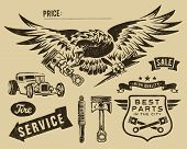 Vintage eagle and auto-moto partsVintage eagle and auto-moto parts