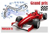 stock photo of formulas  - Poster Monaco Formula 1 Grand Prix - JPG