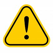 Warning Sign Yellow, Exclamation Mark Icon, Danger Sign, Attention Sign, Caution Alert Symbol Orange poster