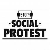 Social Protest Logo. Simple Illustration Of Social Protest Logo For Web poster