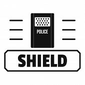 Social Protest Shield Logo. Simple Illustration Of Social Protest Shield Logo For Web poster