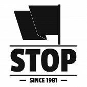 Social Protest Stop Logo. Simple Illustration Of Social Protest Stop Logo For Web poster