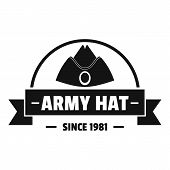 Army Hat Logo. Simple Illustration Of Army Hat Logo For Web poster