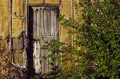 Abstract Strange Background. Old Wooden Door. Old Doors. Old House. poster