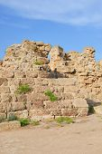 Ruins Of The Walls Belonging To Famous Salamis Complex In Turkish Northern Cyprus. Salamis Was A Fam poster