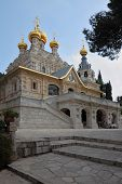 The great city of Jerusalem. Church of St. Mary Magdalene. The magnificent church of the famous Jeru