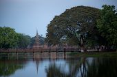 Sukhothai Historical Park Or Old Sukhothai City The Very First Capital City Of Thailand poster