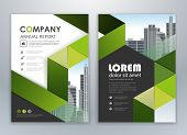 Green Annual Report Leaflet Brochure Flyer Template Design, Book And Magazine Cover Layout Design, A poster