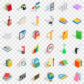 Good Education Icons Set. Isometric Style Of 36 Good Education Vector Icons For Web For Any Design poster