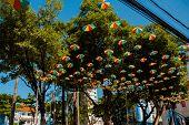 Symbol Of The Culture Of Pernambuco, State Of Brazil. Frevo, Umbrella, Music, Dance, Culture Of Reci poster