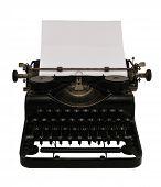 Typewriter With Paper