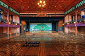 UCHIKO, JAPAN - DECEMBER 4: Uchiko-za Kabuki Theater December 4, 2012 in Uchiko, JP. Dating from 1916, the theater is famous for Kabuki and Bunraku performances.