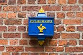 Retro Postbox In The Germany poster