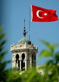 Tower And Turkish Flag