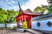 The Entry Of A Chinese Temple, Hdr Image
