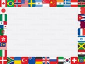 picture of sweden flag  - background with world flag icons frame vector illustration - JPG