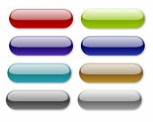 stock photo of rn  - 8 jelly effect lozenge shaped buttons for software and websites - JPG