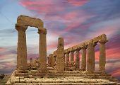 Templo de grego antigo de Juno (v-vi A.c.), Vale dos templos o, Agrigento, Sicília