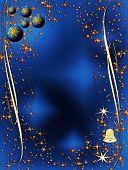 Blue And Golden Elegant Christmas Decoration