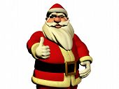Santa Claus Is Wishing Good Luck
